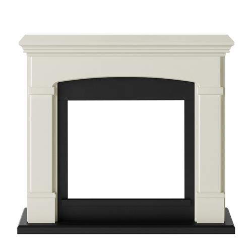 Tagu Helmi Electric Fireplace - Soft Cream  Mantel Only No Plug