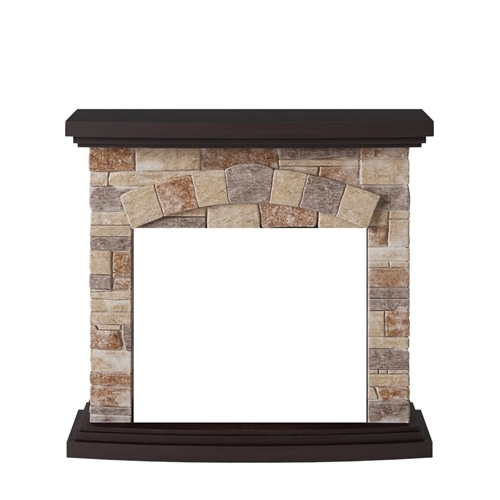 Tagu Tori Electric Fireplace - Stone Cream  Mantel Only No Plug