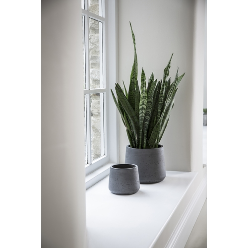Garden Trading Stratton Tapered Plant Pot Set, Carbon