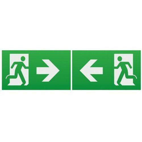 KnightsBridge Emergency Lighting Legend Set (Pack of 2) - Left/Right Arrow