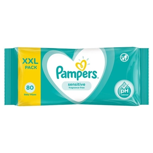 Pampers Sensitive Baby Wipes Fragrance Free - XXL Pack