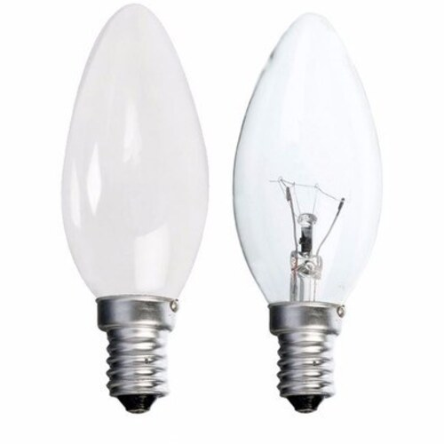 Status 40W Small Edison Screw Candle Bulb - Clear - 10 Pack
