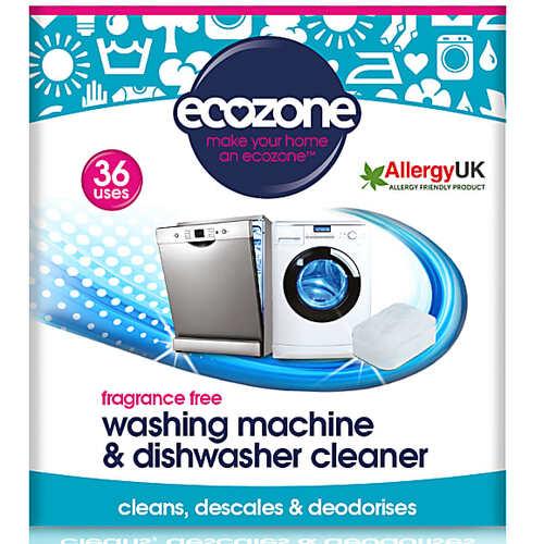 Ecozone Waschmaschinen & Spülmaschinenreiniger - (36 Tabs) Geruchlos